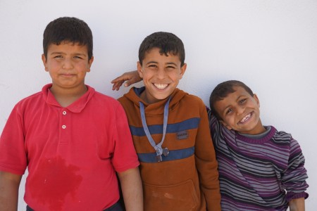 Threeboy smiling