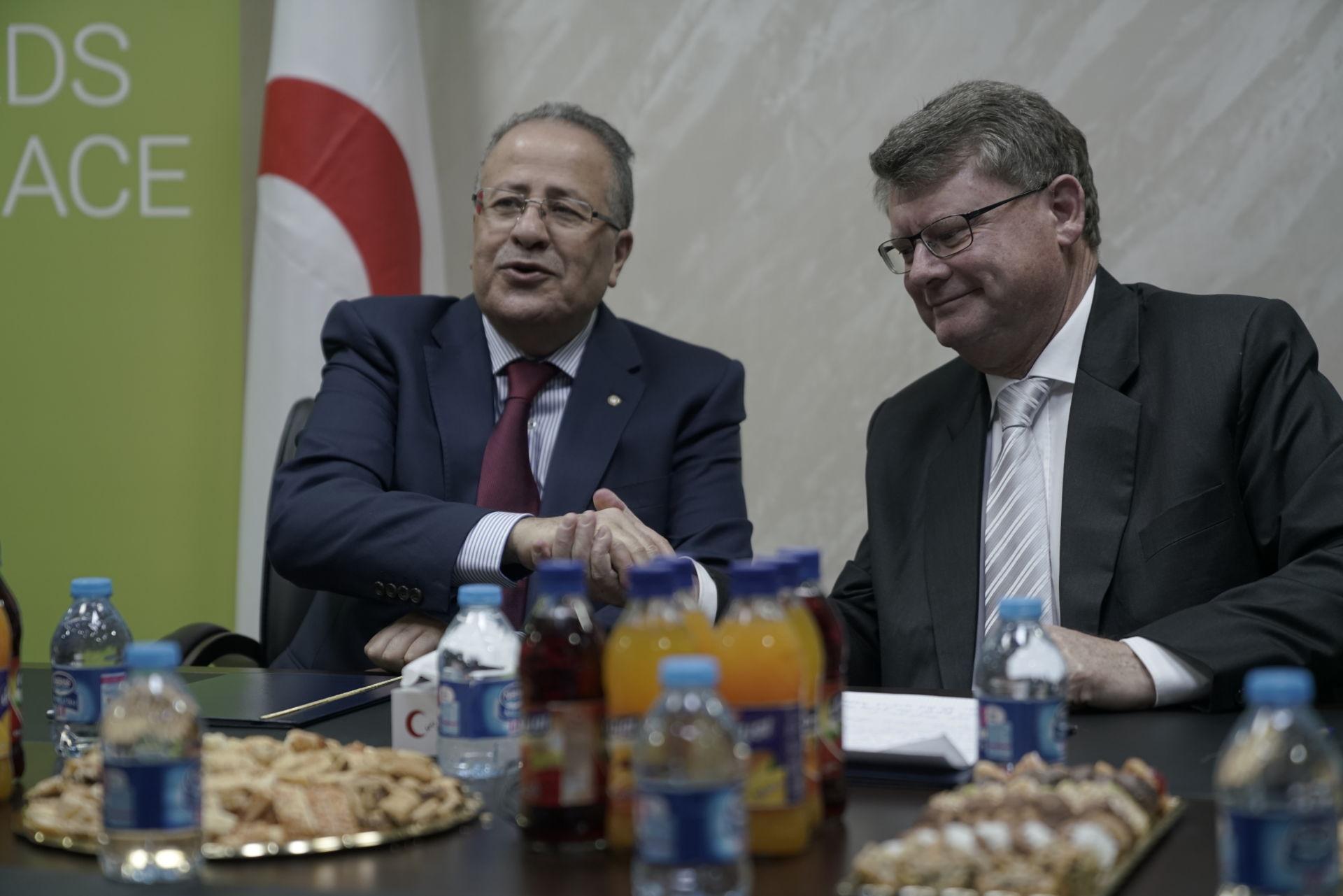 Partnerschaft mit dem Roten Halbmond Jordanien