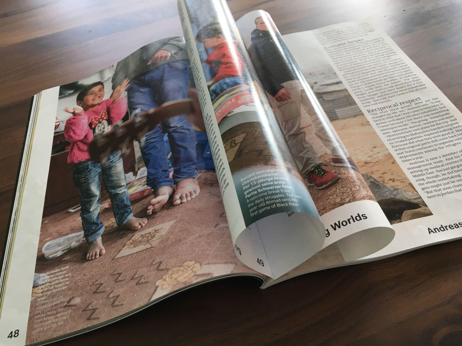 Ausführlicher Artikel im «SWISS Magazine»